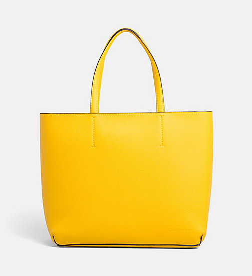 CALVIN KLEIN JEANS Large Tote Bag - CANARY - CALVIN KLEIN JEANS TOTE BAGS - main image