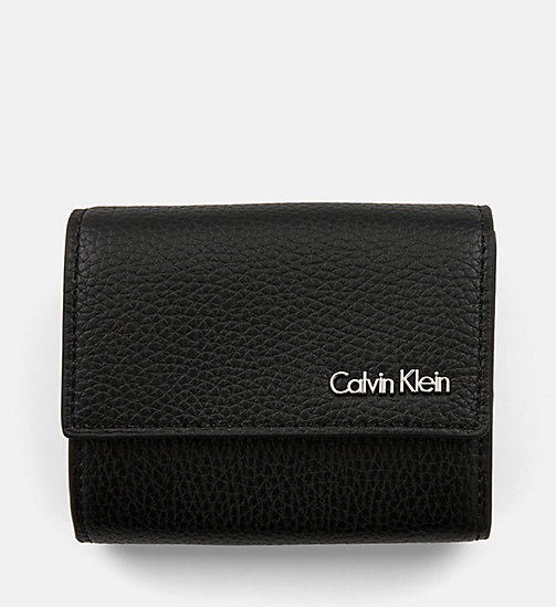 CALVIN KLEIN JEANS Trifold Wallet - BLACK - CALVIN KLEIN JEANS WALLETS & SMALL ACCESSORIES - main image
