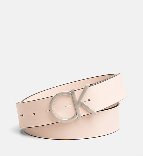 CALVINKLEIN Leather Logo Belt - NUDE - CALVIN KLEIN BELTS - main image