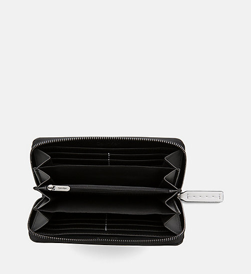 CALVINKLEIN Large Zip-Around Wallet - LOGO PRINT/BLACK - CALVIN KLEIN WALLETS & SMALL ACCESSORIES - detail image 1
