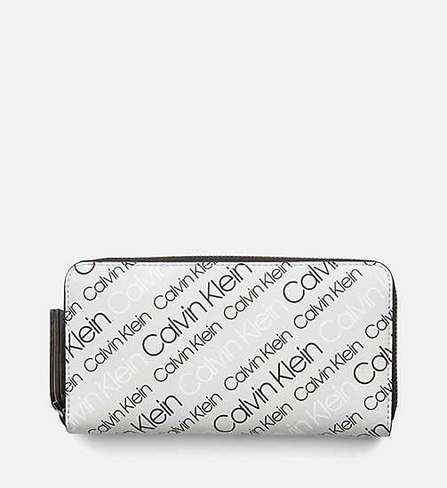 CALVINKLEIN Large Zip-Around Wallet - LOGO PRINT/BLACK - CALVIN KLEIN WALLETS & SMALL ACCESSORIES - main image