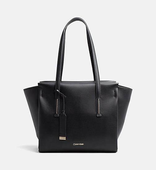 CALVINKLEIN Medium Tote Bag - BLACK - CALVIN KLEIN SHOES & ACCESORIES - main image