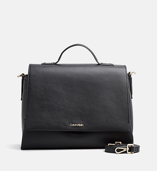CALVINKLEIN Top Handle Satchel - BLACK - CALVIN KLEIN NEW IN - main image