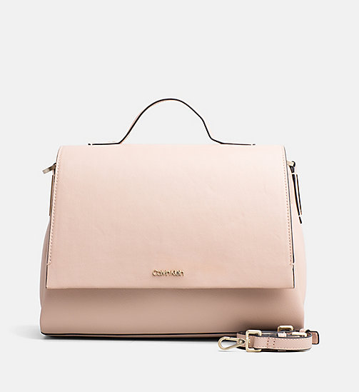CALVINKLEIN Top Handle Satchel - NUDE - CALVIN KLEIN BAGS - main image