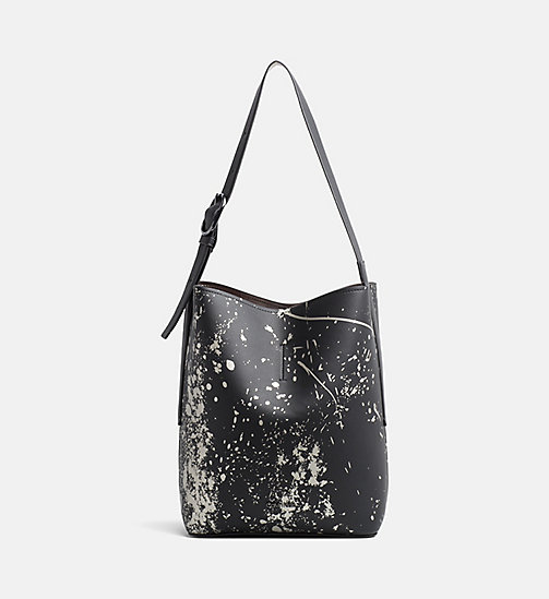 CALVINKLEIN Reversible Bucket Bag - BLACK SPLASH PRINT - CALVIN KLEIN HOBO BAGS - main image