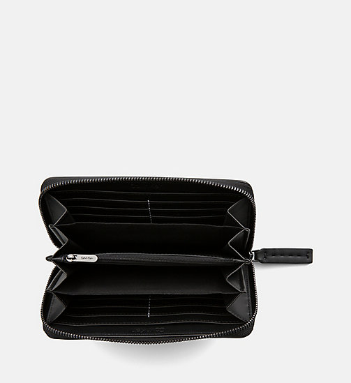 CALVINKLEIN Large Zip-Around Wallet - BLACK SPLASH PRINT - CALVIN KLEIN WALLETS & SMALL ACCESSORIES - detail image 1