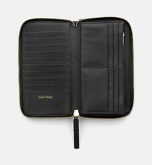 CALVINKLEIN Large Zip-Around Wallet - BLACK - CALVIN KLEIN WALLETS & SMALL ACCESSORIES - detail image 1