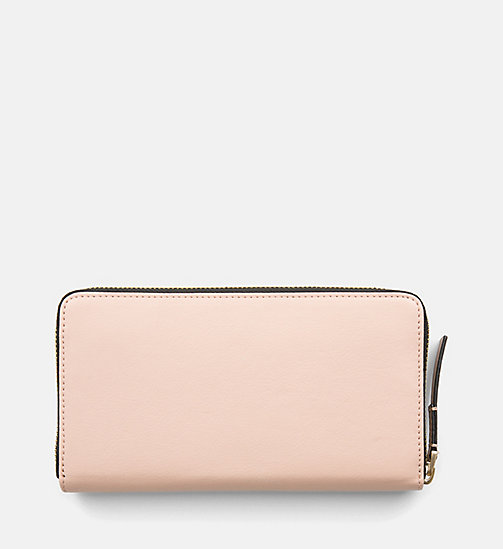 CALVINKLEIN Large Zip-Around Wallet - NUDE - CALVIN KLEIN WALLETS & SMALL ACCESSORIES - detail image 1