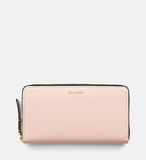 CALVINKLEIN Large Zip-Around Wallet - NUDE - CALVIN KLEIN WALLETS & SMALL ACCESSORIES - main image