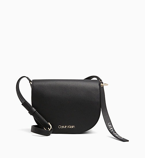 CALVINKLEIN Medium Saddle Bag - BLACK - CALVIN KLEIN NEW IN - main image