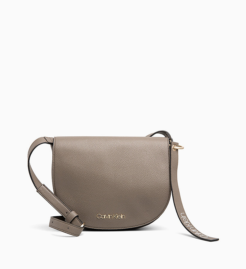 CALVIN KLEIN Medium Saddle Bag - BLACK - CALVIN KLEIN WOMEN - main image
