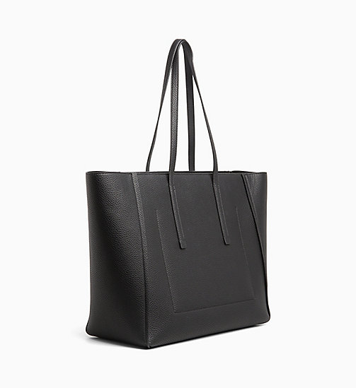 CALVIN KLEIN Large Tote Bag - BLACK - CALVIN KLEIN WOMEN - detail image 1
