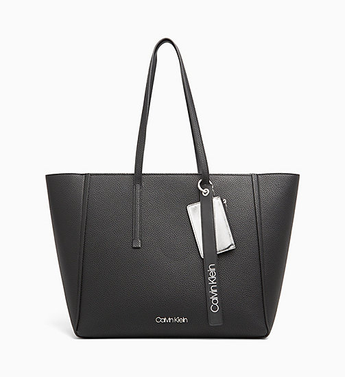 CALVINKLEIN Large Tote Bag - BLACK - CALVIN KLEIN NEW IN - main image