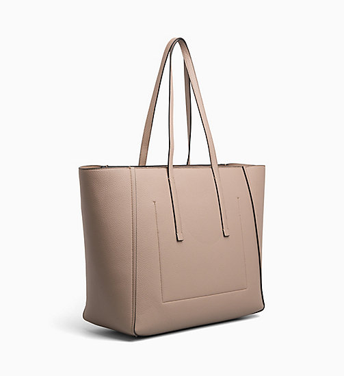 CALVINKLEIN Large Tote Bag - TOBACCO - CALVIN KLEIN SHOES & ACCESORIES - detail image 1