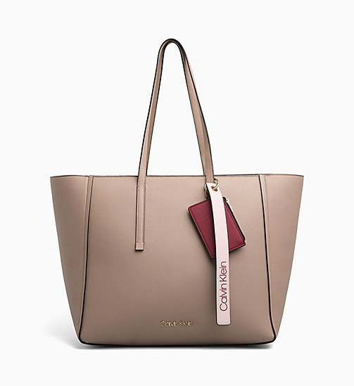 CALVINKLEIN Large Tote Bag - TOBACCO - CALVIN KLEIN SHOES & ACCESORIES - main image