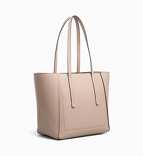 CALVINKLEIN Medium Tote Bag - TOBACCO -  SHOES & ACCESORIES - detail image 1