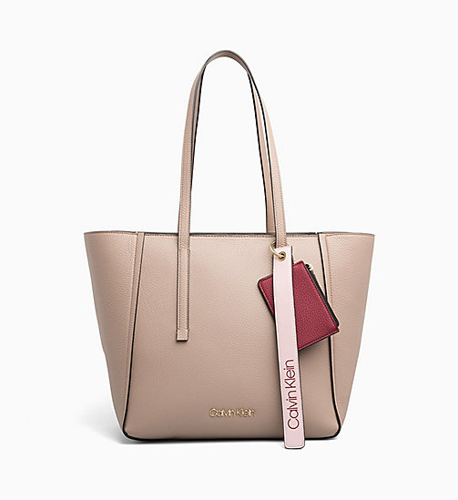 CALVINKLEIN Medium Tote Bag - TOBACCO - CALVIN KLEIN NEW IN - main image