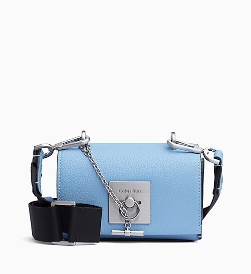 CALVIN KLEIN Small Flap Cross Body Bag - FADED BLUE - CALVIN KLEIN BAGS - main image
