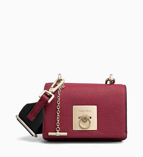 CALVIN KLEIN Small Flap Cross Body Bag - RED ROCK - CALVIN KLEIN BAGS - main image