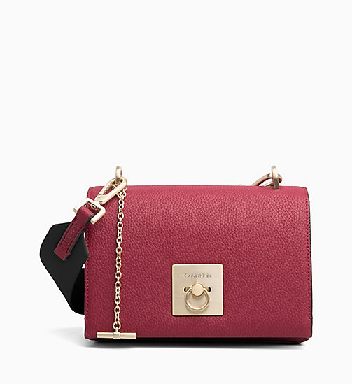 CALVINKLEIN Medium Flap Cross Body Bag - RED ROCK - CALVIN KLEIN CROSSOVER BAGS - main image