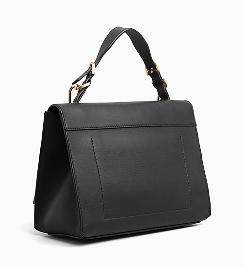 CALVIN KLEIN Small Leather Satchel - BLACK - CALVIN KLEIN BAGS - detail image 1