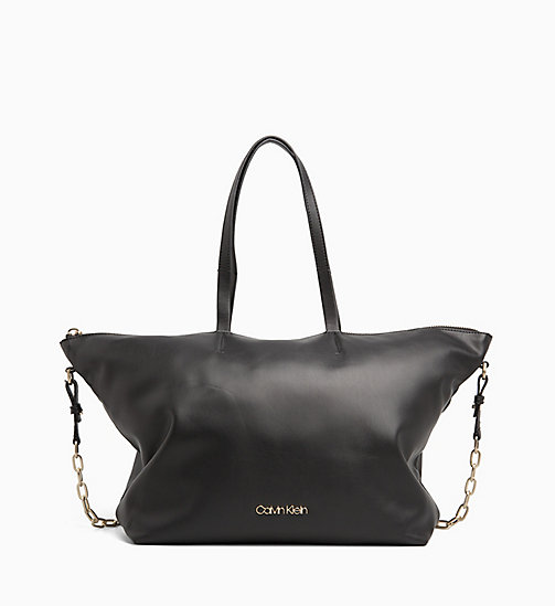 CALVINKLEIN Medium Tote Bag - BLACK - CALVIN KLEIN ALL GIFTS - main image