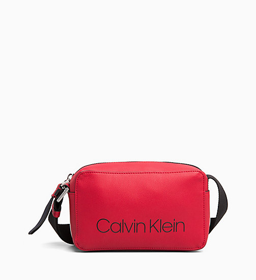 CALVINKLEIN Small Cross Body Bag - ROUGE - CALVIN KLEIN CROSSOVER BAGS - main image
