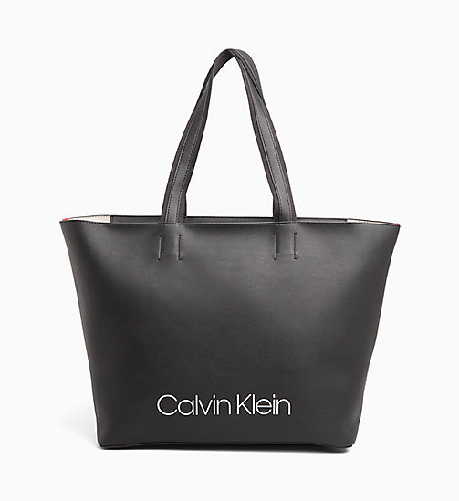 CALVINKLEIN Large Tote Bag - BLACK - CALVIN KLEIN LOGO SHOP - main image
