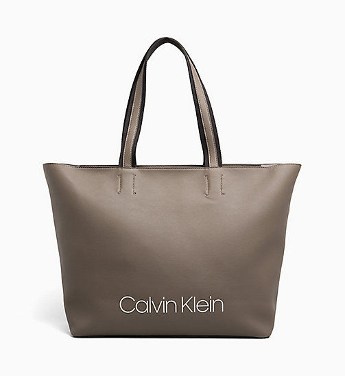 CALVIN KLEIN Large Tote Bag - ARMY FTGE - CALVIN KLEIN TOTE BAGS - main image