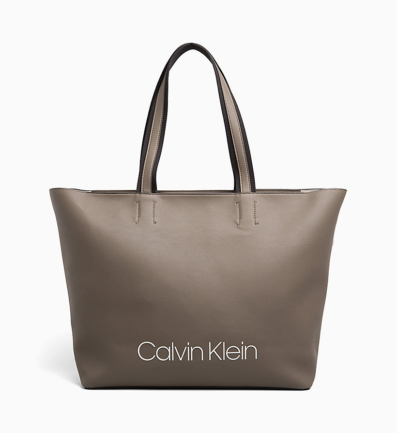 CALVIN KLEIN Large Tote Bag - BLACK - CALVIN KLEIN WOMEN - main image