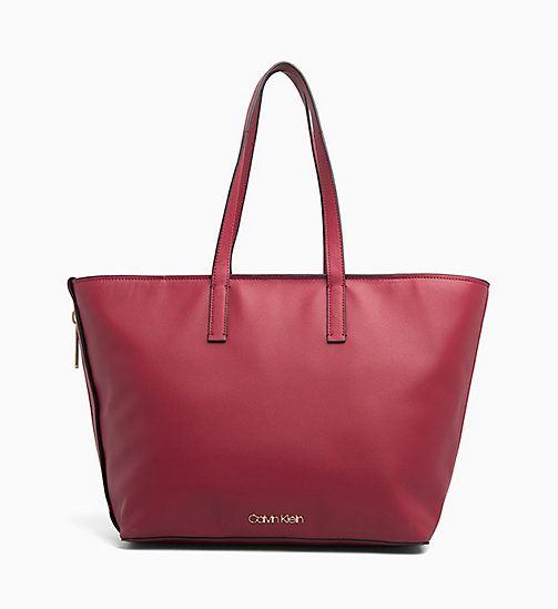 CALVIN KLEIN Large Tote Bag - RED ROCK - CALVIN KLEIN BAGS - main image