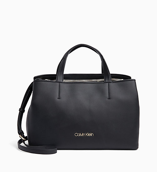 CALVIN KLEIN Medium Tote Bag - BLACK - CALVIN KLEIN BAGS - main image