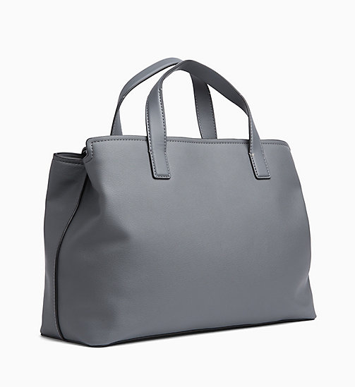 CALVINKLEIN Medium Tote Bag - STEEL GREYSTONE - CALVIN KLEIN SHOES & ACCESORIES - detail image 1