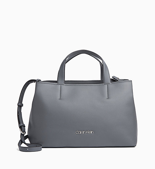 CALVINKLEIN Medium Tote Bag - STEEL GREYSTONE - CALVIN KLEIN SHOES & ACCESORIES - main image