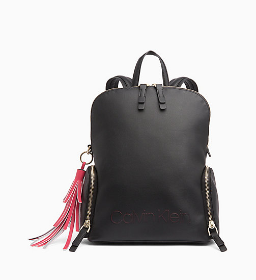 CALVIN KLEIN Domed Backpack - BLACK - CALVIN KLEIN BACKPACKS - main image