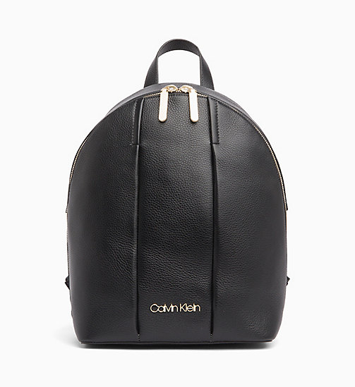 CALVINKLEIN Leather Backpack - BLACK - CALVIN KLEIN BACKPACKS - main image