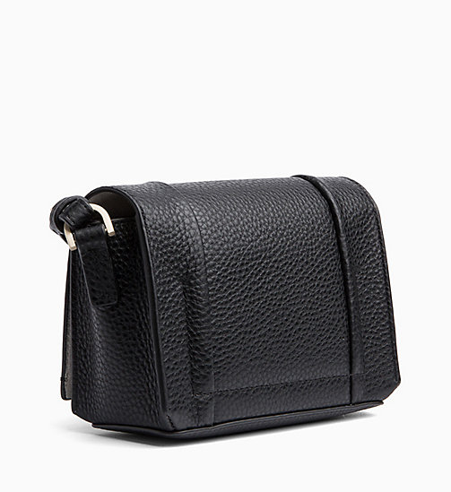CALVINKLEIN Small Leather Flap Cross Body Bag - BLACK - CALVIN KLEIN NEW IN - detail image 1
