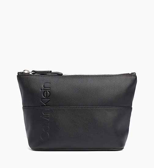 CALVINKLEIN Carryall Clutch - BLACK - CALVIN KLEIN WALLETS & SMALL ACCESSORIES - main image