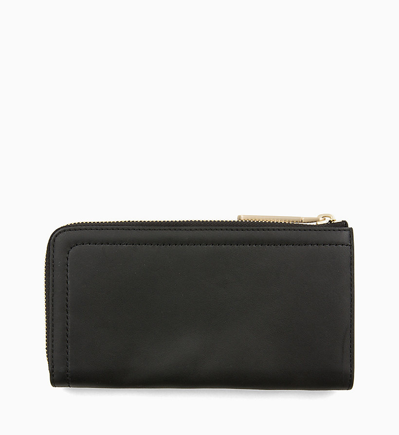CALVINKLEIN Large Leather Zip-Around Wallet - TOBACCO - CALVIN KLEIN WOMEN - detail image 1
