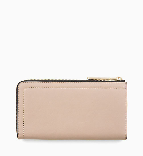 CALVINKLEIN Large Leather Zip-Around Purse - TOBACCO - CALVIN KLEIN WALLETS & SMALL ACCESSORIES - detail image 1