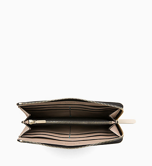 CALVIN KLEIN Large Leather Zip-Around Wallet - TOBACCO - CALVIN KLEIN WOMEN - detail image 1
