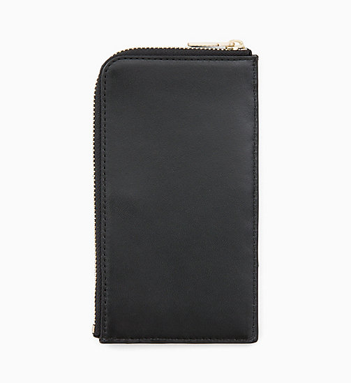 CALVINKLEIN Leather Zip-Around Pouch - BLACK - CALVIN KLEIN PERFUMES & ACCESSORIES - detail image 1