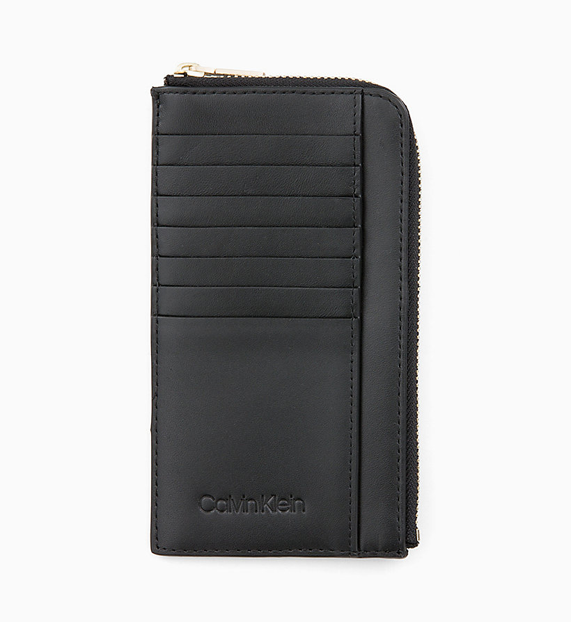 CALVINKLEIN Leather Zip-Around Pouch - TOBACCO - CALVIN KLEIN WOMEN - main image