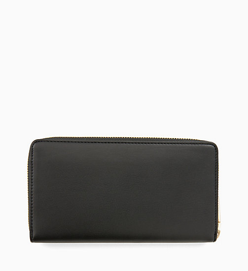 CALVINKLEIN Large Zip-Around Wallet - BLACK - CALVIN KLEIN WOMEN - detail image 1
