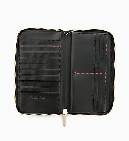 CALVIN KLEIN Large Zip-Around Wallet - BLACK - CALVIN KLEIN MEN - detail image 1