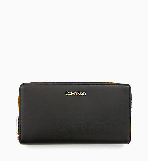 CALVIN KLEIN Large Zip-Around Wallet - BLACK - CALVIN KLEIN MEN - main image