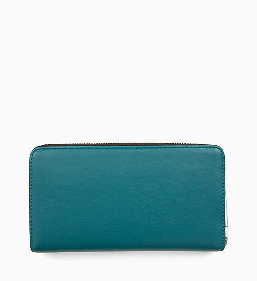 CALVINKLEIN Large Zip-Around Purse - ARMOUR GREEN - CALVIN KLEIN WALLETS & SMALL ACCESSORIES - detail image 1