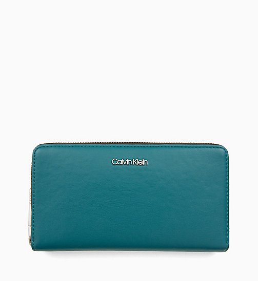 CALVINKLEIN Large Zip-Around Purse - ARMOUR GREEN - CALVIN KLEIN WALLETS & SMALL ACCESSORIES - main image