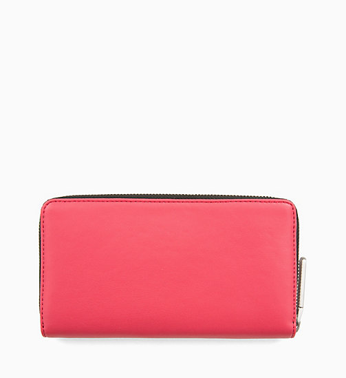CALVINKLEIN Large Zip-Around Purse - ROSE QUARTZ - CALVIN KLEIN WALLETS & SMALL ACCESSORIES - detail image 1
