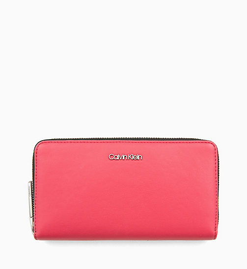 CALVINKLEIN Large Zip-Around Purse - ROSE QUARTZ - CALVIN KLEIN WALLETS & SMALL ACCESSORIES - main image